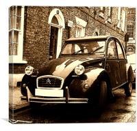 Citroen 2CV Car, Canvas Print