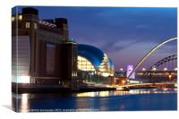 Baltic, Sage and Tyne Bridges, Canvas Print