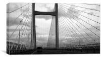 Second severn crossing bridge, Canvas Print