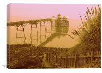Arty Clevedon Pier 2, Canvas Print