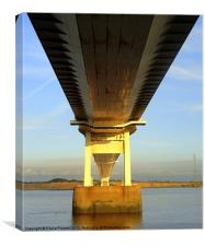 1st Severn Crossing bridge, Canvas Print