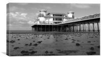 Grand Pier in black/white, Canvas Print