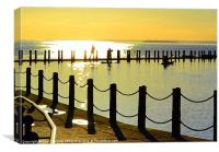 Arty Shadows,Silhouettes and Sunset, Canvas Print