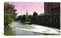 Pulteney weir in Bath 2, Canvas Print