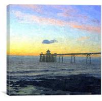 Clevedon pier 2013, Canvas Print