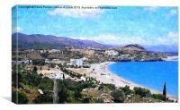 Lindos Bay in Rhodes, Canvas Print