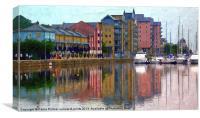 Reflections at Portishead Marina, Canvas Print