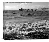 Clevedon Pier-Grade 1 listed, Canvas Print