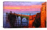 Clevedon pier in August, Canvas Print