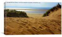 Saunton Sands Sand Dunes, Canvas Print
