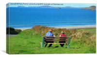 View over Newgale Beach,Pembrokeshire,Wales, Canvas Print