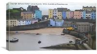 Tenby Harbour 1, Canvas Print