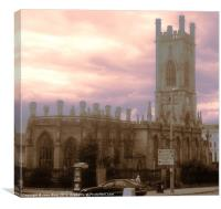 WW2 Bombed out Church, Canvas Print