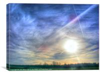 Low Winter Sun, Canvas Print