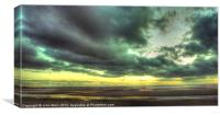 Beach at Sunset, Canvas Print
