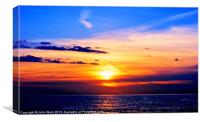 Sunset in the Bay, Canvas Print