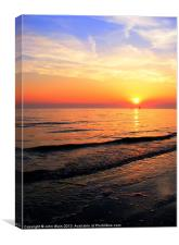 High tide and Sunset, Canvas Print