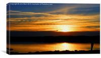 Marine Lake Sunset, Canvas Print