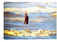 Gormley in a Storm, Canvas Print