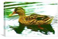 Lady Duck (Digital Art), Canvas Print