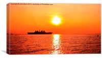 Aircraft Carrier HMS Illustrious, Canvas Print