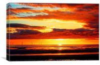 Irish Sea - Heavy Skys, Canvas Print