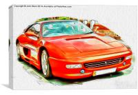 Ferrari F355GTS, Canvas Print