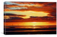 Irish Sea - Heavy Skys (Digital Art), Canvas Print