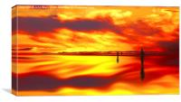 Reflection of Sunset  , Canvas Print