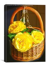 Rose Basket, Canvas Print