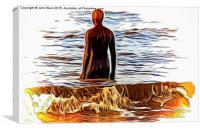 Gormley (Digital Art)., Canvas Print