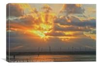 Sunset at the Power Plant, Canvas Print