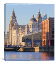 World famous Three Graces, Canvas Print