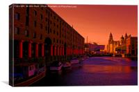 Albert Dock And the Pier Head, Canvas Print