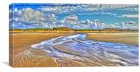 Low Tide (Digital Painting), Canvas Print