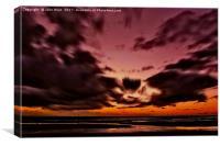 Storm at the Beach, Canvas Print