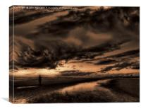 Another place at sunset , Canvas Print