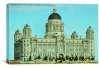 Port of Liverpool Building (Digital Art), Canvas Print