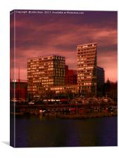 Liverpool One and Salt house Dock, Canvas Print