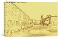 Albert Dock, Liverpool (Digital Art), Canvas Print