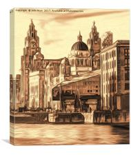 World famous Three Graces (Digital painting), Canvas Print
