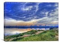 Marina Sunrise (Digital Art), Canvas Print