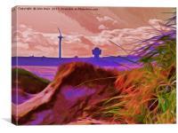 Sand Dunes (Digital Art), Canvas Print