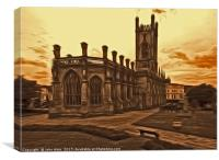 WW2 Bombed out Church Liverpool (Digital Art), Canvas Print