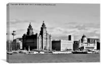 Water front Liverpool (Digital Art), Canvas Print