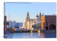Albert Dock And the 3 Graces, Canvas Print