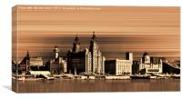 Liverpool Water front Skyline (Digital Art), Canvas Print