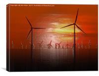 Windmills (Digital Art), Canvas Print