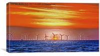 Windmills to the Sun (Digital Art), Canvas Print