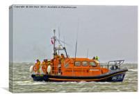 Hoylake Lifeboat (Digital Art), Canvas Print